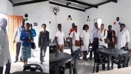 2018년 11월 19일, 마푸투 주교육감과 시교육감이 국제위러브유운동본부 회원들과 함께한 가운데 열린 모잠비크 필로투 초등학교 도서관 준공식