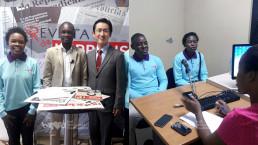 2018년 11월 19일 열린 국제위러브유운동본부의 도서관 준공식과 도서 지원한 내용이 현지 주요 언론과 방송을 통해 모잠비크 전역에 전해지고 있는 현장