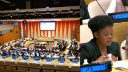 국제위러브유운동본부 동아리 회장은 2018년 11월 16일 국제 관용의 날을 맞아 열린 유엔 인권행사에서 생활 속 인권침해 사례를 애니메이션으로 발표