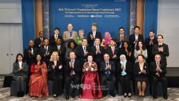 2019년 2월 18일, 국제위러브유 장길자 회장과 각국 주한 대사가 그랜드 인터컨티넨탈 서울 파르나스에서 열린 2019 국제위러브유 간담회에 참석