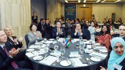 국제위러브유운동본부에서 개최한 간담회에 참석한 주한 대사 등 16개국 외교사절과 위러브유 이사진