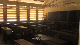 2018년 9월부터 11월까지 국제위러브유운동본부가 학생들의 교육환경을 개선하기 위해 달려간 아프리카 베냉에 위치한 쟁비에 팡지 초등학교의 교실 모습