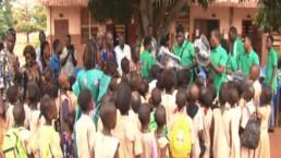국제위러브유는 2018년 9월 26일 다시 아프리카 베냉에 위치한 쟁비에 팡지 초등학교를 찾아 가방 650개, 공책 1300권, 650권자루를 지원함.