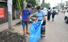 2018년 12월 13일, 미얀마 양곤에 위치한 탓마인 거리 일대를 정화하기 위해 국제위러브유운동본부 회원 25명이 나서 클린월드운동을 실시한 결과, 폐기물 150킬로그램을 수거
