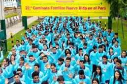 심장병 어린이 및 장애아동을 돕기 위한 국제WeLoveU 제22회 페루 새생명 사랑 가족걷기대회 행사 모습