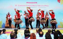 국제WeLoveU 제22회 페루 새생명 사랑 가족걷기대회 식전 행사로 진행된 페루 전통춤과 전통악기 연주