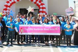 국제WeLoveU 미국 유타 지부 회원들이 6월 23일, 유타주 솔트레이크시티 헌혈센터에서 제159회 전 세계 헌혈하나둘운동을 펼쳤다.