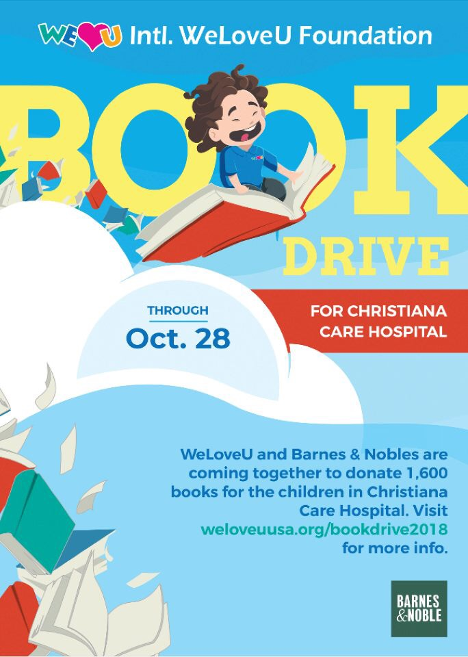 Donation Of Books To Christiana Care Hospital In Wilmington Delaware U S The Intl Weloveu Foundation