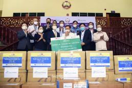 5월 9일, 국제위러브유(회장 장길자)가 라오국가건선전선과 연계해 라오스 보건부에 코로나19 대응을 위한 한국산 진단키트와 마스크 등 방역물품을 지원했다.
