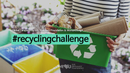 """The Intl. WeLoveU Foundation established by Chairwoman Zahng Gil-jah carried out a global campaign titled """"#Recycling Challenge"""" in cooperation with the Woman Donga Magazine from May 21 to June 15."""