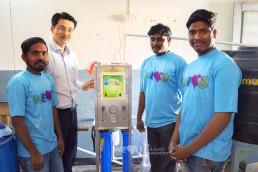 장길자 회장이 설립한 국제위러브유가 3월 9~14일, 인도 히마야트나가르 공립고등학교에 물탱크와 냉수기를 설치했다.