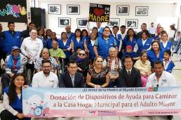 장길자 회장이 설립한 국제위러브유는 12월 18일, 오악사카시립양로원에 휠체어 12대와 지팡이 7개 등 보행보조기구와 노인용품 2박스를 전달했다.