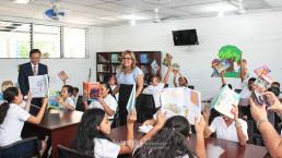 (재)국제위러브유 장길자 회장이 엘살바도르 산살바도르 지부를 통해 아순시온 아마테페 초등학교에 도서실을 새로 짓고, 필요한 교육 비품을 전달하는 사업을 전개했다.