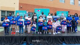 2020년 9월 17일, 국제위러브유 장길자 회장이 설립한 위러브유 미국 동부지부가 어빙턴시 매디슨 애비뉴 초등학교에서 코로나19 대응을 위한 원격수업 기기 기증식을 열었다.