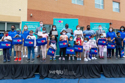 On September 17, 2020, the eastern U.S. branch of the Intl. WeLoveU Foundation, which was established by Chairwoman Zahng Gil-jah, held a remote learning digital device donation ceremony in response to COVID-19 at Madison Avenue Elementary School in Irvington.