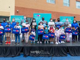El 17 de septiembre de 2020, la sucursal del este de EE. UU. de la Fundación Internacional WeLoveU, que fue establecida por la Presidenta Zahng Gil-jah, realizó una ceremonia de donación de dispositivos digitales de aprendizaje remoto en respuesta a la COVID-19 en la Escuela Primaria Madison Avenue en Irvington.