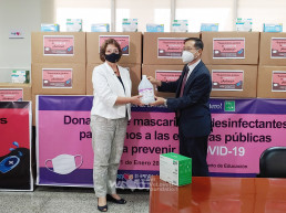 Intl. WeLoveU Foundation (Honorary Chairwoman Zahng Gil-Jah) held donation ceremony of quarantine supplies at both Ministry of Education and Central Regional Directorate of Health under the Ministry of Health in January 2021.