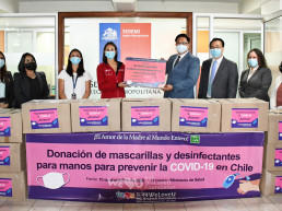 Intl. WeLoveU Foundation led by Honorary Chairwoman Zahng Gil-Jah, donated 20,100 masks and 670 ℓ sanitizers to the Ministry of Health of Chile as part of its COVID-19 quarantine items and groceries support project.